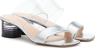 Nicholas Kirkwood Peggy leather and PVC mules