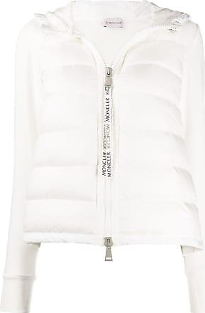 Moncler Jaqueta matelassê com mix de tecidos - Branco