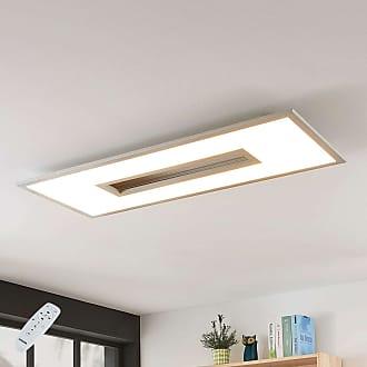 Lampenwelt.com Lámpara LED de techo Durun, CCT, angular, 96 cm