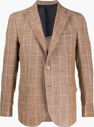 Eleventy checked tailored blazer - Brown