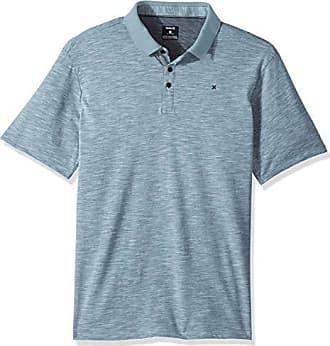 Hurley Mens Nike Dri-Fit Short Sleeve Lagos Polo, Ocean Bliss L