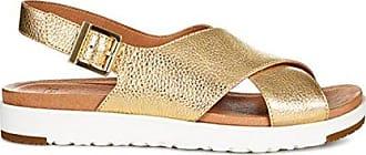 UGG Womens Kamile Metallic Flat Sandal, Gold, 11 M US