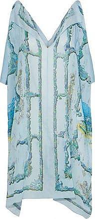 Emilio Pucci Emilio Pucci Woman Printed Cotton-voile Coverup Sky Blue Size ONESIZE