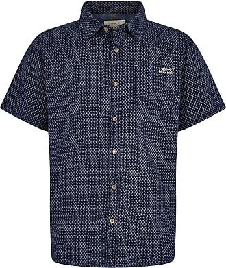 Weird Fish Hayle Short Sleeve Patterned Shirt Navy Size XL