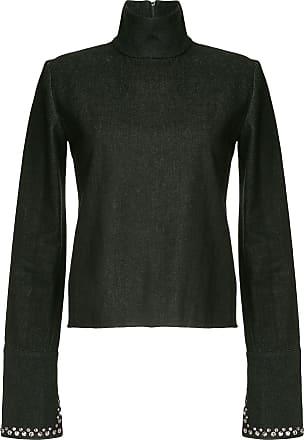 16Arlington Camisa jeans gola alta - Preto