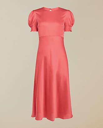 Ted Baker Kleid In Diagonalschnitt Mit Puffärmeln