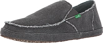 Sanuk Mens Rounder Slip-On Loafer, Pirate Black, 12 UK