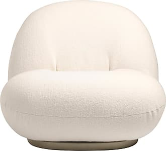 GUBI Pacha Lounge Chair in Ivory & Pearl Gold