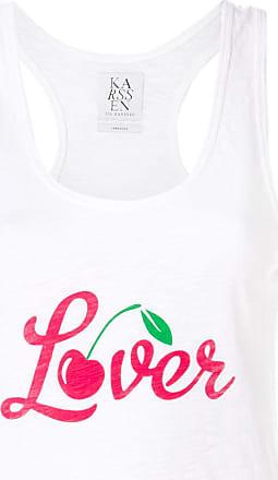 Zoe Karssen lover print tank top - White