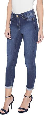 Sawary Calça Jeans Sawary Skinny Cropped Estonada Azul