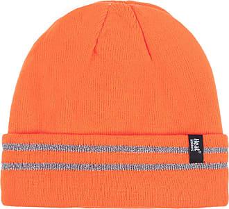 Heat Holders Men and Women Workforce Hat Pack of 1 Bright Orange One Size