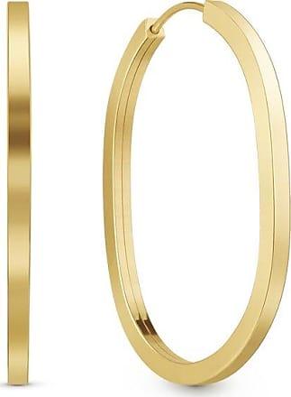 Vivara Argola Oval Ouro Amarelo 32 mm