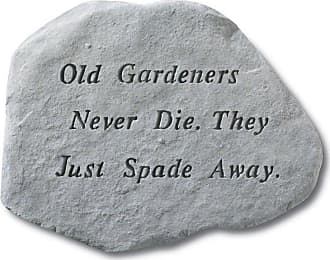 Kay Berry Old Gardeners Never Die Garden Accent Stone - 66120