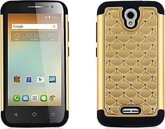 Mundaze Mundaze Gold Diamond Double Layered Case for Alcatel One Touch Elevate