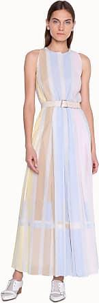 Akris Striped Multicolored Cotton Maxi Dress