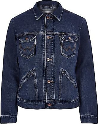 Wrangler Mens Wrangler dark blue denim jacket