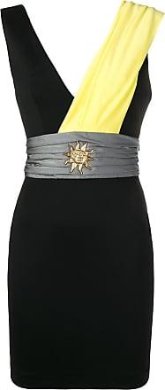 FAUSTO PUGLISI plunge neck mini dress - Preto