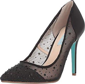 Blue by Betsey Johnson Womens SB-Rubie Heeled Sandal, Black Satin, 9.5 M US