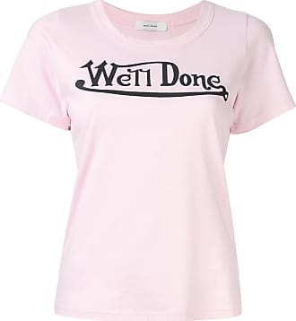 We11done logo print T-shirt - PINK