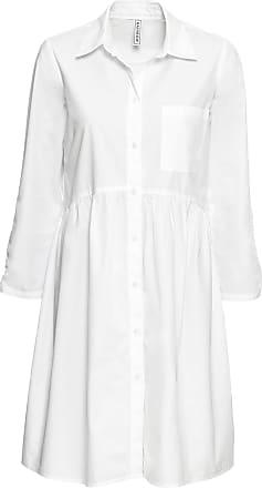 Bonprix Dam Skjortklänning i vit lång ärm - RAINBOW 57d4a03632cf0