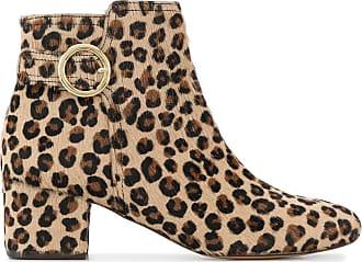 Tila March Ankle boot animal print - Marrom