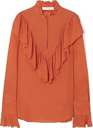 See By Chloé Ruffled Chiffon Blouse - Orange