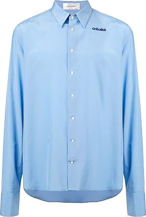Wales Bonner Camisa com detalhe bordado - Azul
