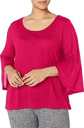 Just My Size Womens Plus Size Pintuck Top