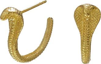 Zoe & Morgan Gold Mini Cobra Hoops - ONE SIZE - Gold