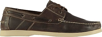 Firetrap Mens Caravel Shoes Boat Lace Up Low Profile Casual Everyday Brown UK 8 (42)