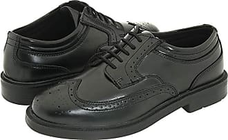 Boys Black Leather Casual Dress Lace Up Shoes Deerstags WILLIAMSBURG JR