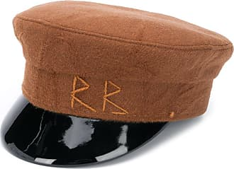 Ruslan Baginskiy embroidered logo baker boy hat - Marrom