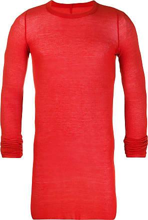 Rick Owens ribbed T-shirt - Vermelho