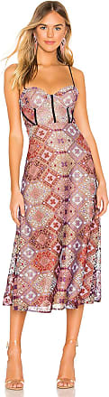 X by NBD Delylah Midi Dress in Pink