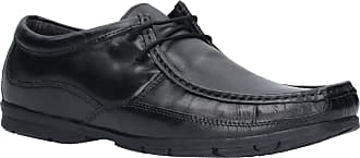 Lambretta Mens Fast Lace Smart Leather Moccasin Boat Shoes