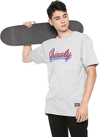 Grizzly Camiseta Grizzly Cursive Cinza