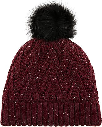 Dents Lace Marl Womens Beanie One Size Claret