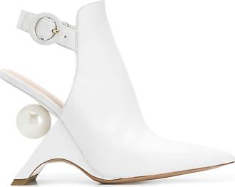 Nicholas Kirkwood JAZZELLE slingback boots 105mm - White
