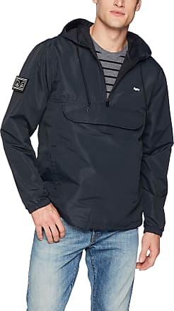 Obey Obey Mens Crosstown II Hooded Anorak Jacket, Black, Large