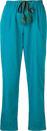 Forte_Forte drawstring cropped trousers - Azul