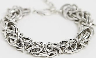 Reclaimed Vintage inspired chain interest bracelet in burnished silver exclusive to ASOS