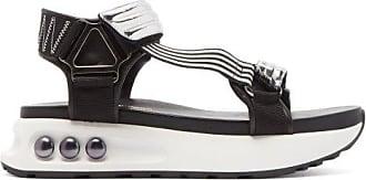 Nicholas Kirkwood Nkp3 Faux Pearl-inlay Leather Flatform Sandals - Womens - Silver