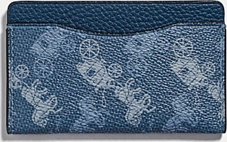 Coach Small Card Case With Horse And Carriage Print in Blue