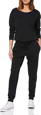 Urban Classics Womens Ladies Long Sleeve Terry Jumpsuit, Black (Black 00007), XS