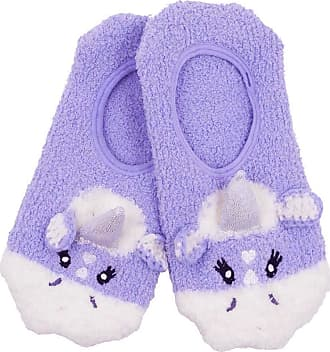 Foxbury Ladies Unicorn Slipper Footlets (Lilac)