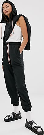 Monki Pantaloni cargo multitasche con fondo stretto grigio scuro coordinati