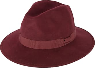 Hat To Socks Wine Red Wool Fedora Hat with Grosgrain Band Handmade in Italy