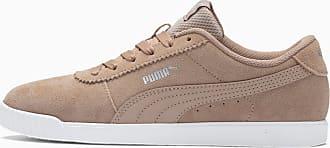 Puma Carina Slim Womens Trainers, Nougat/Nougat, size 3.5, Shoes