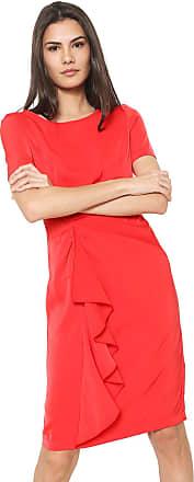 Vero Moda Vestido Vero Moda Curto Prega Vermelho