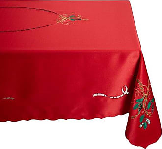Lenox Holiday Nouveau Tablecloth, 60 by 102-Inch Oblong/Rectangle, Red
